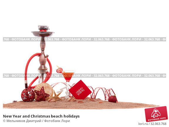 New Year and Christmas beach holidays. Стоковое фото, фотограф Мельников Дмитрий / Фотобанк Лори