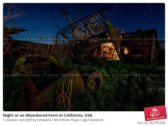 Night at an Abandoned Farm in California, USA. Стоковое фото, фотограф Zoonar.com/Jeffrey Schwartz / age Fotostock / Фотобанк Лори