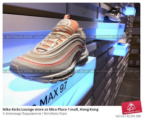 Купить «Nike Kicks Lounge store at Mira Place 1 mall, Hong Kong», фото № 33241288, снято 24 сентября 2019 г. (c) Александр Подшивалов / Фотобанк Лори