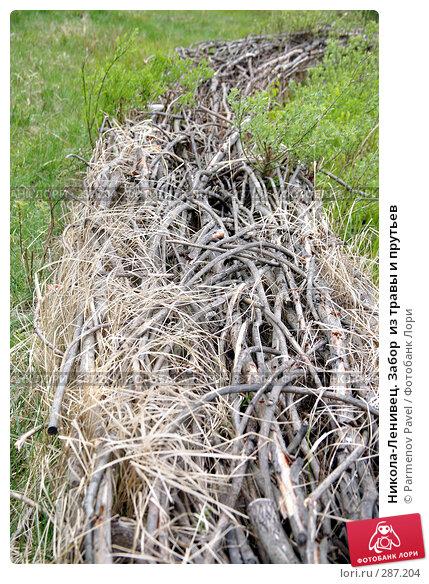 Никола-Ленивец. Забор  из травы и прутьев, фото № 287204, снято 10 мая 2008 г. (c) Parmenov Pavel / Фотобанк Лори