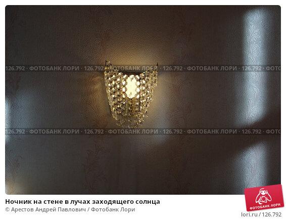 Ночник на стене в лучах заходящего солнца, фото № 126792, снято 8 июня 2007 г. (c) Арестов Андрей Павлович / Фотобанк Лори