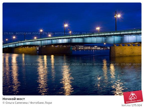 Ночной мост, фото № 275924, снято 18 марта 2008 г. (c) Ольга Сапегина / Фотобанк Лори