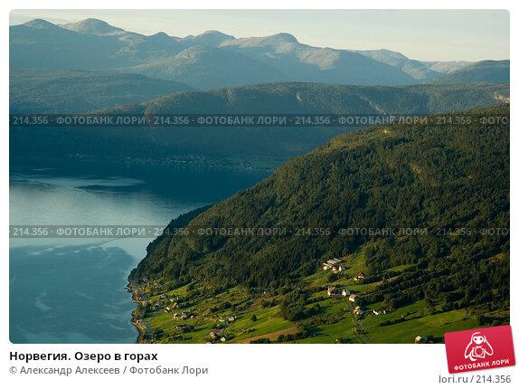 Норвегия. Озеро в горах, эксклюзивное фото № 214356, снято 1 августа 2006 г. (c) Александр Алексеев / Фотобанк Лори