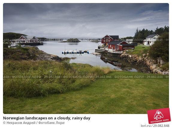 Купить «Norwegian landscapes on a cloudy, rainy day», фото № 29082848, снято 7 августа 2018 г. (c) Некрасов Андрей / Фотобанк Лори