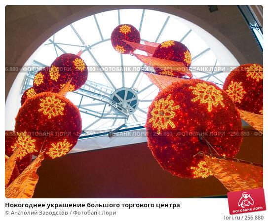 Новогоднее украшение большого торгового центра, фото № 256880, снято 1 января 2007 г. (c) Анатолий Заводсков / Фотобанк Лори