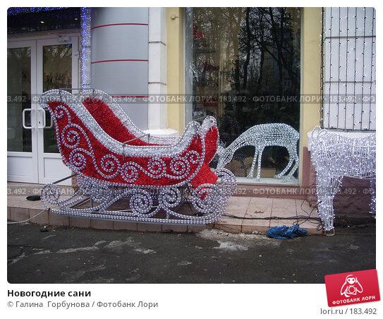 Новогодние сани, фото № 183492, снято 13 января 2007 г. (c) Галина  Горбунова / Фотобанк Лори