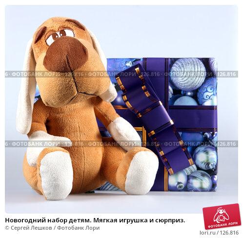 Купить «Новогодний набор детям. Мягкая игрушка и сюрприз.», фото № 126816, снято 25 ноября 2007 г. (c) Сергей Лешков / Фотобанк Лори