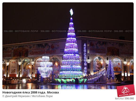 Новогодняя ёлка 2008 года. Москва, эксклюзивное фото № 306080, снято 30 декабря 2007 г. (c) Дмитрий Неумоин / Фотобанк Лори