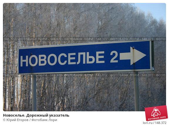 Новоселье. Дорожный указатель, фото № 148372, снято 28 октября 2016 г. (c) Юрий Егоров / Фотобанк Лори