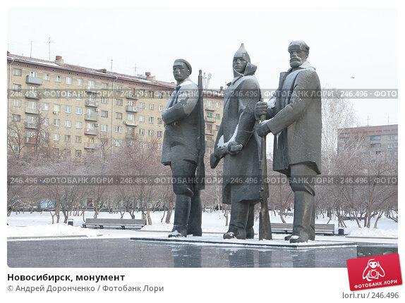 Новосибирск, монумент, фото № 246496, снято 18 января 2007 г. (c) Андрей Доронченко / Фотобанк Лори
