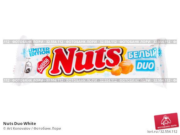Купить «Nuts Duo White», фото № 32554112, снято 30 ноября 2019 г. (c) Art Konovalov / Фотобанк Лори