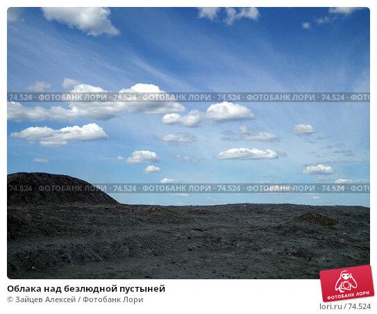 Облака над безлюдной пустыней, фото № 74524, снято 22 июня 2005 г. (c) Зайцев Алексей / Фотобанк Лори