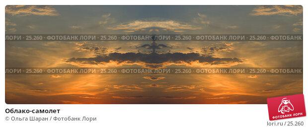 Купить «Облако-самолет», фото № 25260, снято 23 апреля 2018 г. (c) Ольга Шаран / Фотобанк Лори