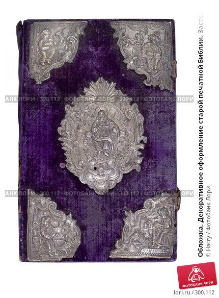 Обложка. Декоративное оформление старой печатной Библии. Застежка, фото № 300112, снято 18 апреля 2008 г. (c) Harry / Фотобанк Лори