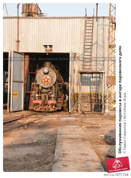Купить «Обслуживание паровоза в ангаре паровозного депо», фото № 877724, снято 29 апреля 2009 г. (c) Павел Гаврилов / Фотобанк Лори