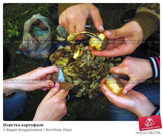 Очистка картофеля, фото № 282736, снято 26 апреля 2017 г. (c) Вадим Кондратенков / Фотобанк Лори