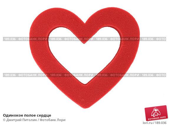 Одинокое полое сердце, фото № 189036, снято 27 января 2008 г. (c) Дмитрий Питолин / Фотобанк Лори