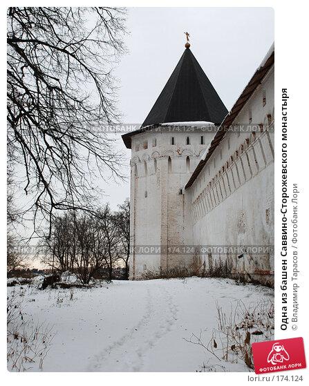 Одна из башен Саввино-Сторожевского монастыря, фото № 174124, снято 21 ноября 2007 г. (c) Владимир Тарасов / Фотобанк Лори