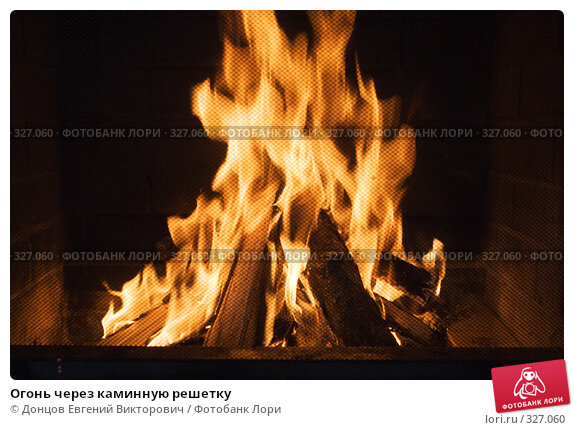 Огонь через каминную решетку, фото № 327060, снято 23 февраля 2008 г. (c) Донцов Евгений Викторович / Фотобанк Лори