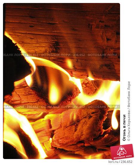 Огонь в печи, фото № 236652, снято 15 июня 2007 г. (c) Ольга Хорькова / Фотобанк Лори
