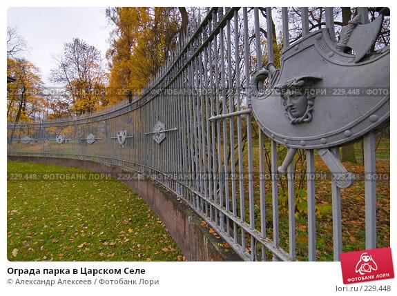 Ограда парка в Царском Селе, эксклюзивное фото № 229448, снято 20 октября 2007 г. (c) Александр Алексеев / Фотобанк Лори