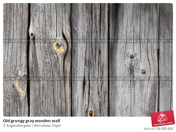 Old grungy gray wooden wall. Стоковое фото, фотограф EugeneSergeev / Фотобанк Лори