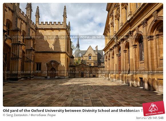 Купить «Old yard of the Oxford University between Divinity School and Sheldonian Theater. Oxford. England», фото № 29141548, снято 15 мая 2009 г. (c) Serg Zastavkin / Фотобанк Лори
