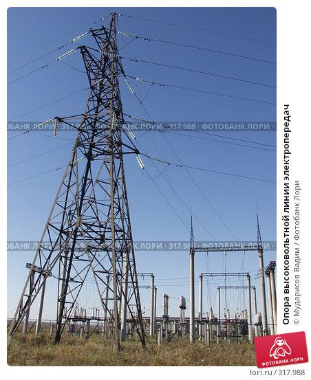 Опора высоковольтной линии электропередач, фото № 317988, снято 28 сентября 2006 г. (c) Мударисов Вадим / Фотобанк Лори