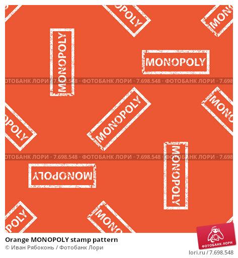 Купить «Orange MONOPOLY stamp pattern», иллюстрация № 7698548 (c) Иван Рябоконь / Фотобанк Лори