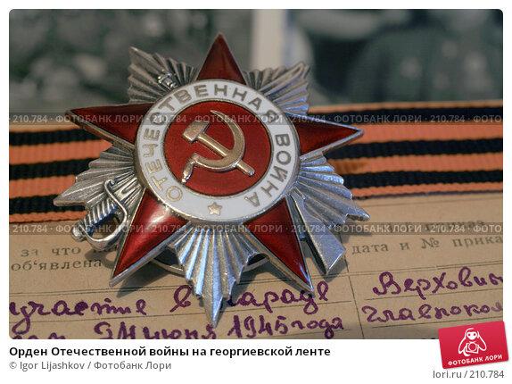 Орден Отечественной войны на георгиевской ленте, фото № 210784, снято 24 февраля 2008 г. (c) Igor Lijashkov / Фотобанк Лори