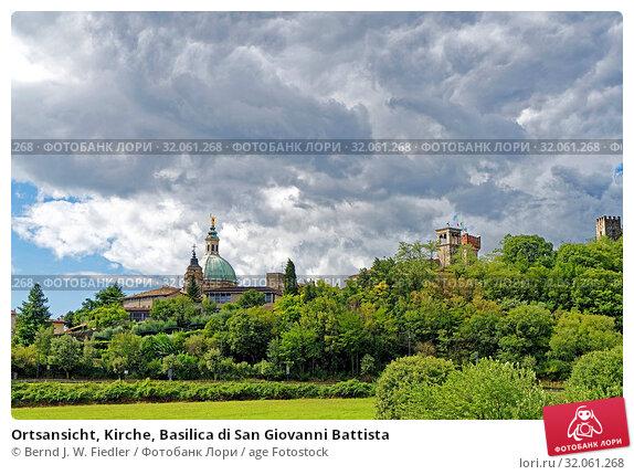 Ortsansicht, Kirche, Basilica di San Giovanni Battista. Стоковое фото, фотограф Bernd J. W. Fiedler / age Fotostock / Фотобанк Лори