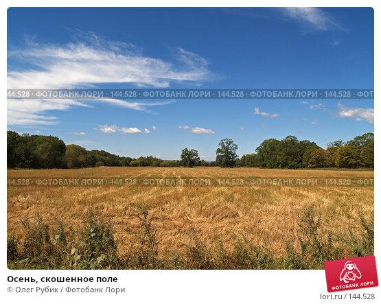 Осень, скошенное поле, фото № 144528, снято 5 сентября 2007 г. (c) Олег Рубик / Фотобанк Лори