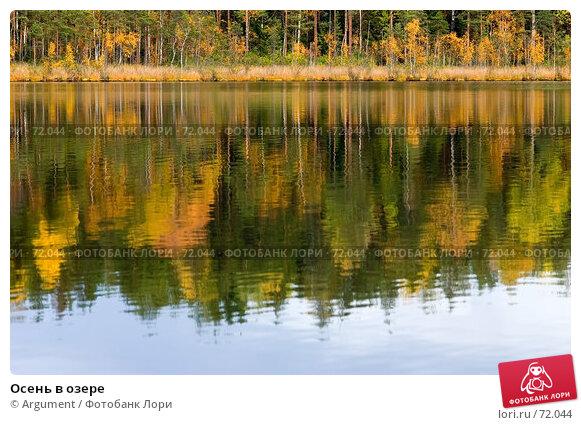 Осень в озере, фото № 72044, снято 6 октября 2006 г. (c) Argument / Фотобанк Лори