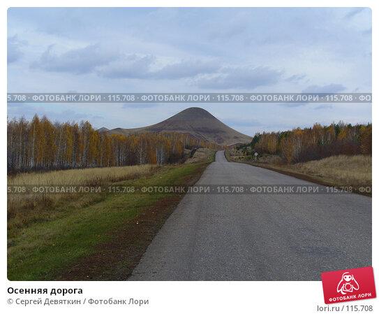 Купить «Осенняя дорога», фото № 115708, снято 16 октября 2007 г. (c) Сергей Девяткин / Фотобанк Лори