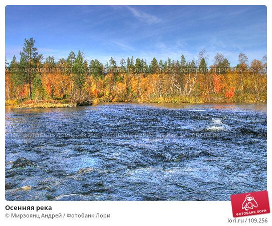 Осенняя река, фото № 109256, снято 21 октября 2016 г. (c) Мирзоянц Андрей / Фотобанк Лори