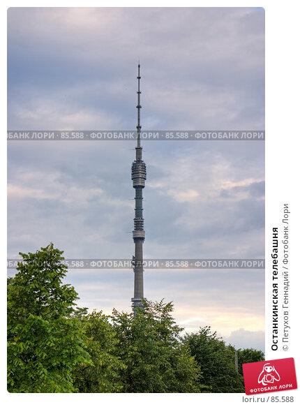 Останкинская телебашня, фото № 85588, снято 29 мая 2017 г. (c) Петухов Геннадий / Фотобанк Лори