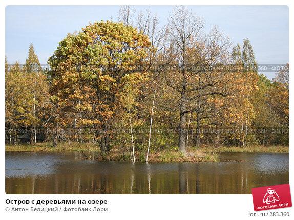 Остров с деревьями на озере, фото № 283360, снято 8 октября 2006 г. (c) Антон Белицкий / Фотобанк Лори