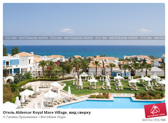 Отель Aldemar Royal Mare Village, вид сверху, фото № 313184, снято 6 мая 2008 г. (c) Галина Лукьяненко / Фотобанк Лори