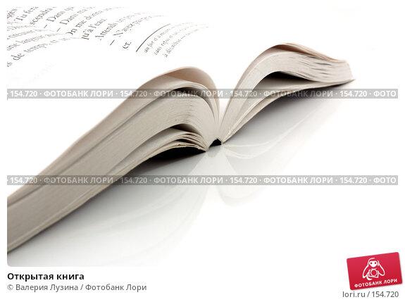 Открытая книга, фото № 154720, снято 19 декабря 2007 г. (c) Валерия Потапова / Фотобанк Лори