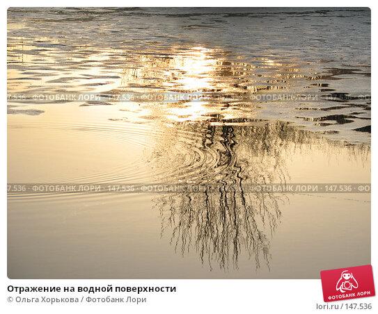 Отражение на водной поверхности, фото № 147536, снято 29 марта 2007 г. (c) Ольга Хорькова / Фотобанк Лори