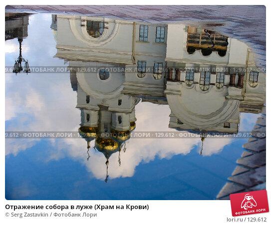 Отражение собора в луже (Храм на Крови), фото № 129612, снято 7 июня 2005 г. (c) Serg Zastavkin / Фотобанк Лори