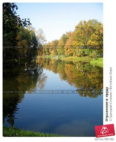 Отражение в  пруду, фото № 90192, снято 30 сентября 2007 г. (c) Григорий Стоякин / Фотобанк Лори