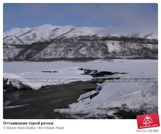 Оттаивание горой речки, фото № 42660, снято 30 апреля 2007 г. (c) Maxim Kamchatka / Фотобанк Лори