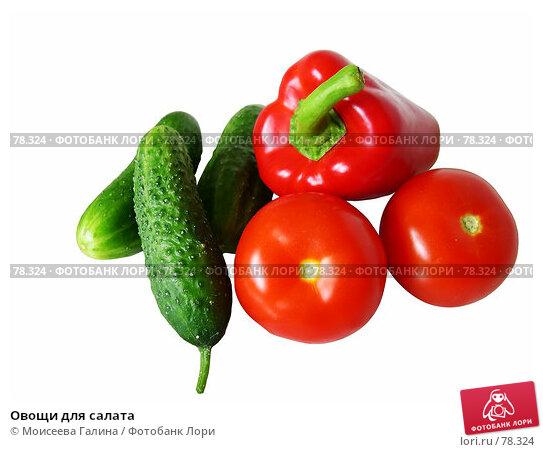 Овощи для салата, фото № 78324, снято 21 мая 2006 г. (c) Моисеева Галина / Фотобанк Лори