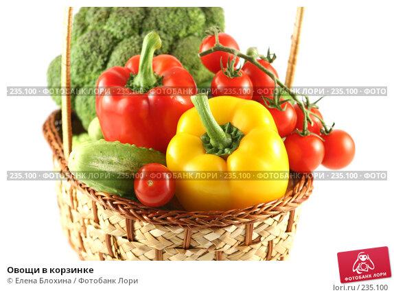 Овощи в корзинке, фото № 235100, снято 24 июля 2007 г. (c) Елена Блохина / Фотобанк Лори