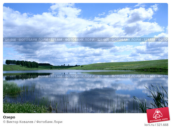 Озеро, фото № 321668, снято 13 июня 2008 г. (c) Виктор Ковалев / Фотобанк Лори