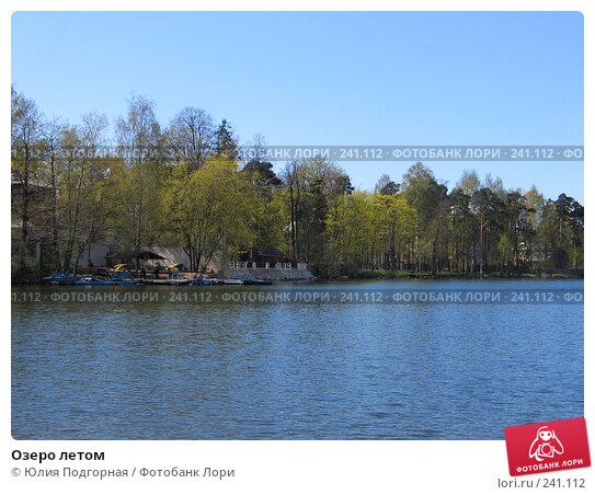 Озеро летом, фото № 241112, снято 13 мая 2007 г. (c) Юлия Селезнева / Фотобанк Лори