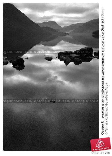 Озеро Ullswater в английском национальном парке Lake District (Озерный край), монохромная версия  , фото № 3220, снято 25 декабря 2005 г. (c) Tamara Kulikova / Фотобанк Лори