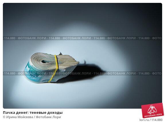 Купить «Пачка денег: теневые доходы», фото № 114880, снято 12 сентября 2007 г. (c) Ирина Мойсеева / Фотобанк Лори