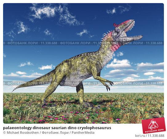 Купить «palaeontology dinosaur saurian dino cryolophosaurus», фото № 11338688, снято 22 сентября 2019 г. (c) PantherMedia / Фотобанк Лори